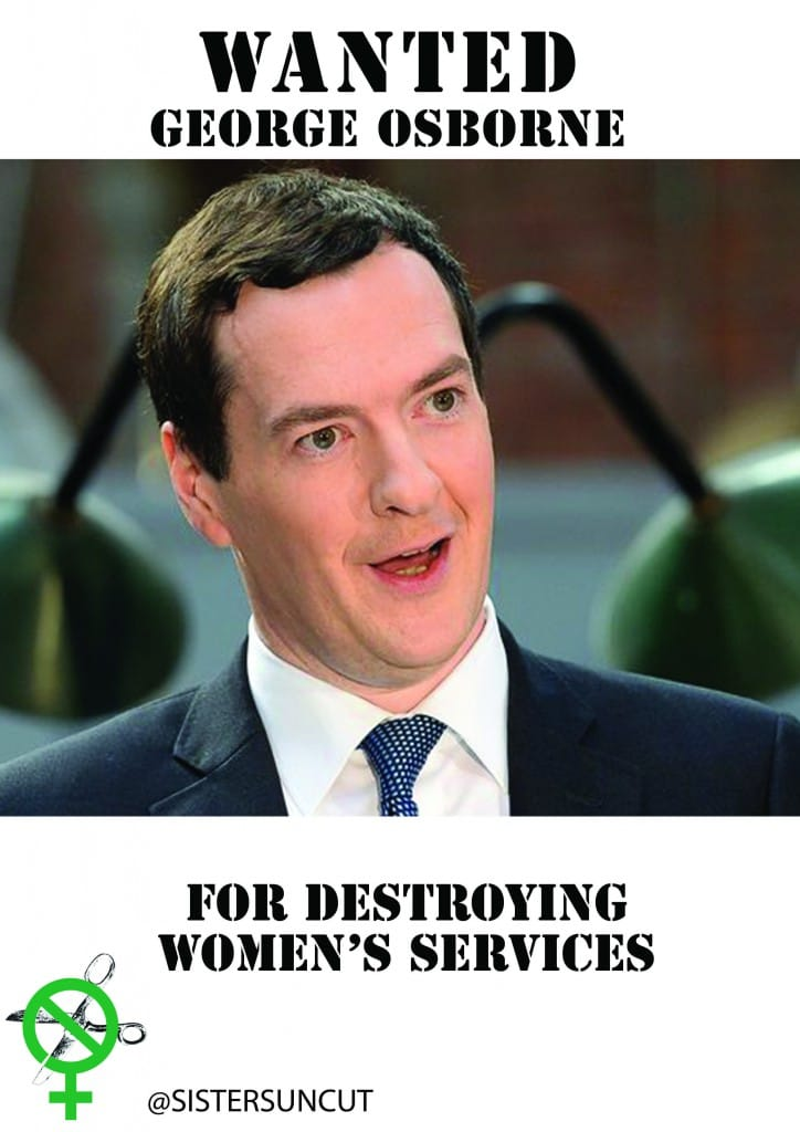 'Wanted' poster of George Osborne